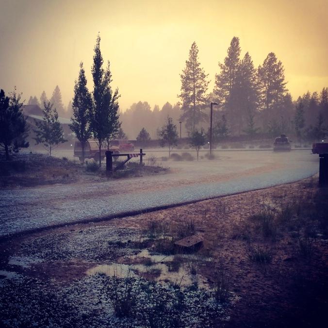 summer hail storm