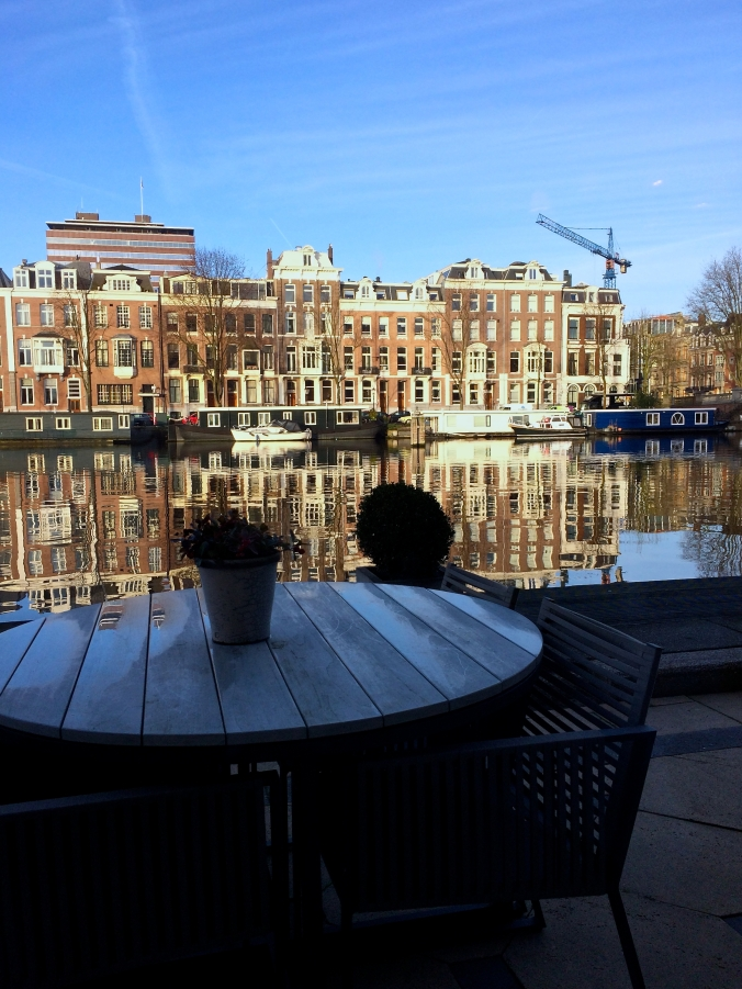 Amstel breakfast view
