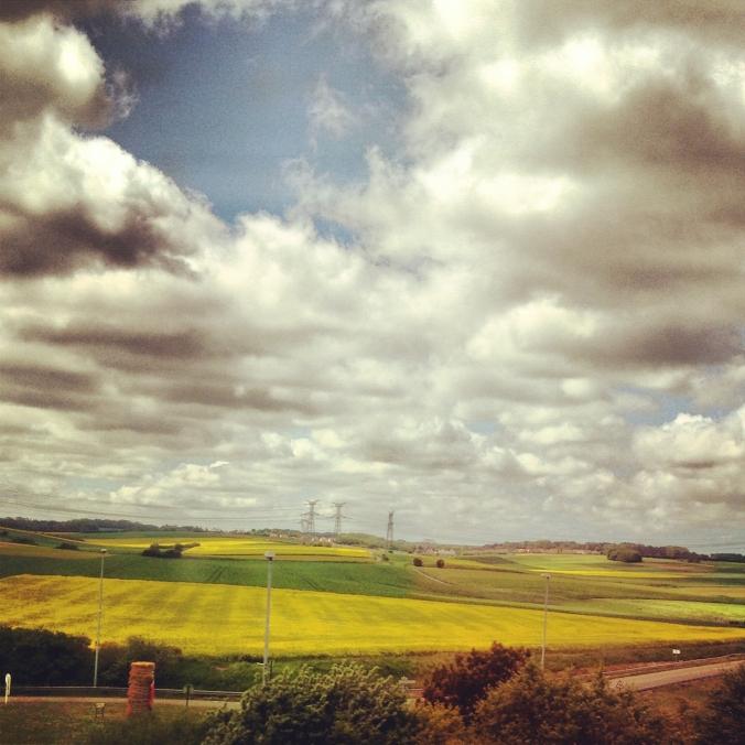 landscape from the eurostar