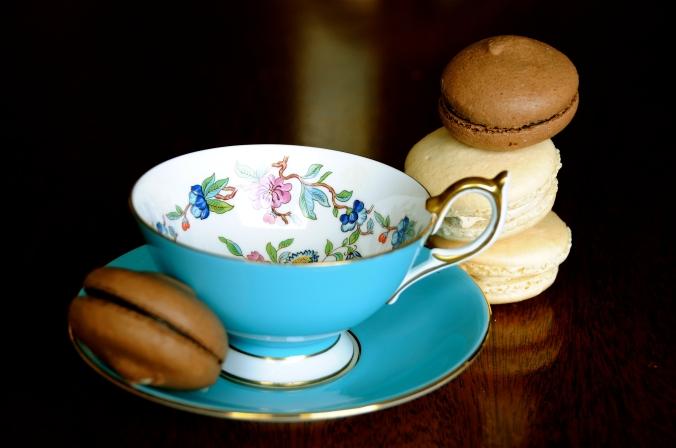 macaron tea cup