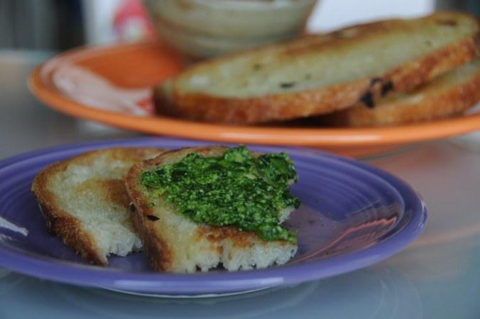Pesto on Toast