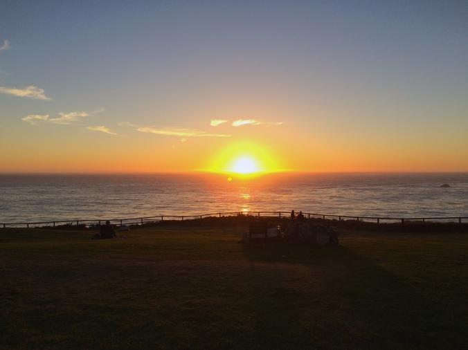 sunset big sur