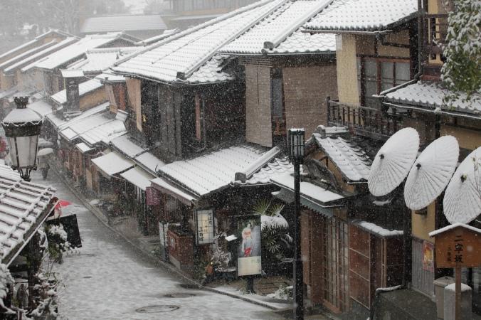Kyoto Japan Snow