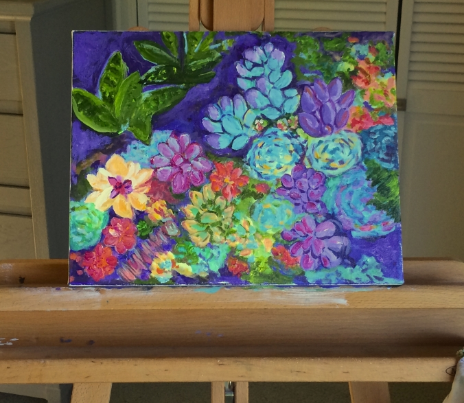 succulents painting