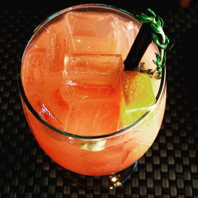 blood orange thyme lemonade