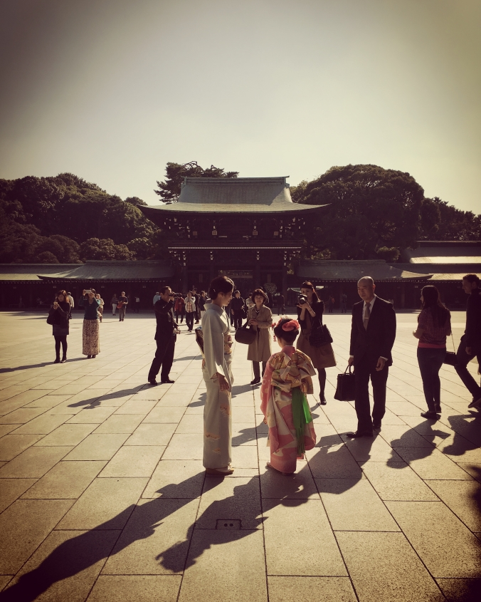 kimono at meiji shrine