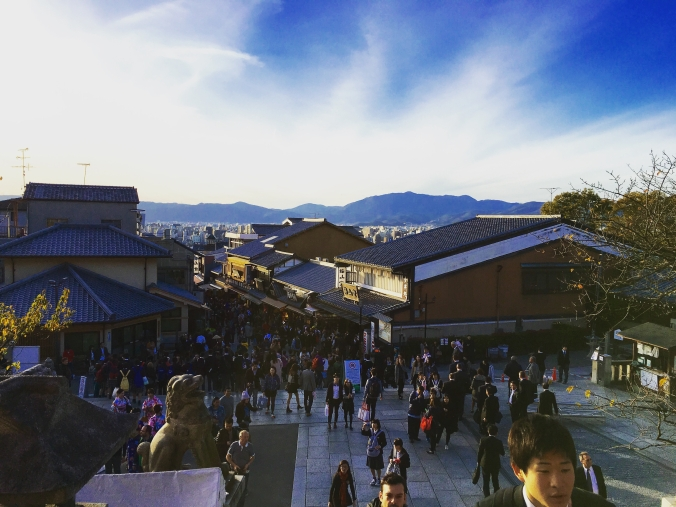 looking out from kiyomizu