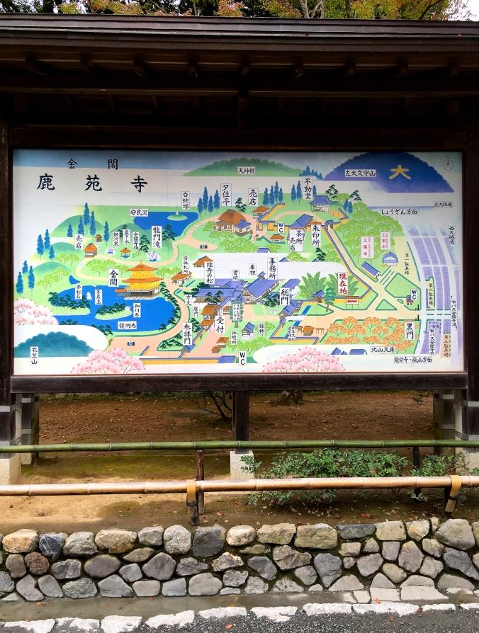 map kinkakuji