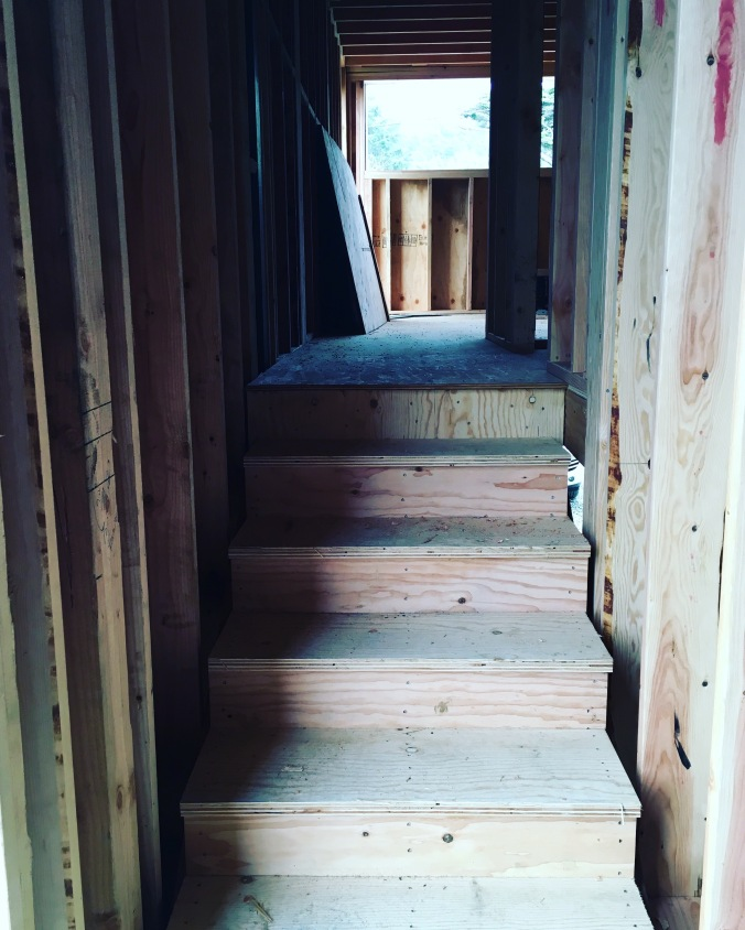 stairs to painting studio